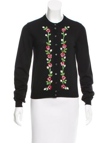 Dolce & Gabbana Virgin Wool Embellished Cardigan None