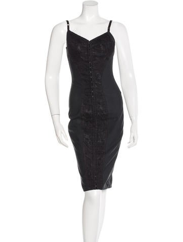 Dolce & Gabbana Lace-Accented Bustier Dress None