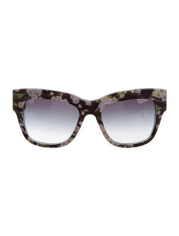 Dolce & Gabbana Oversize Floral Print Sunglasses