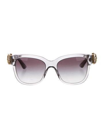 Dolce & Gabbana 2015 Floral Embellished Sunglasses