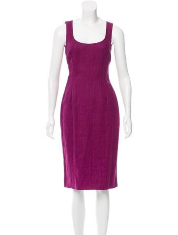 Dolce & Gabbana Linen Sheath Dress w/ Tags None