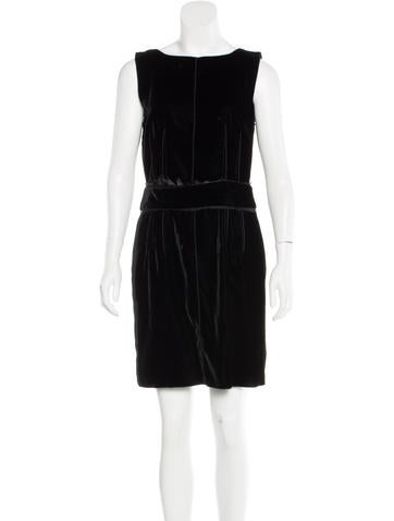 Dolce & Gabbana Velvet Sheath Dress None