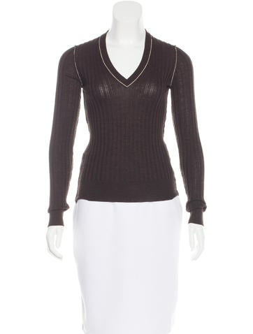 Dolce & Gabbana Virgin Wool V-Neck Sweater None