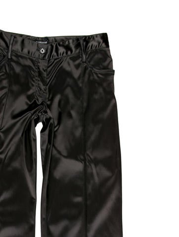 Satin Low-Rise Pants