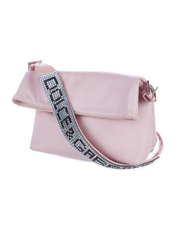 Crystal-Embellished Top Handle Bag