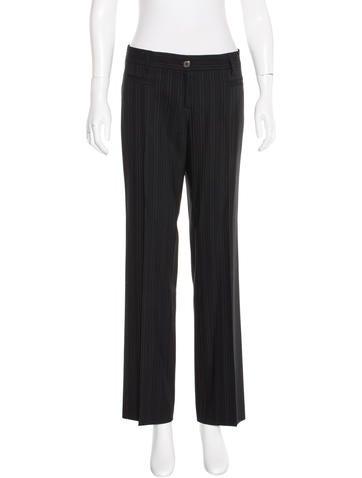 Dolce & Gabbana Pinstripe Straight-Leg Pants