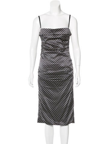 Dolce & Gabbana Polka Dot Silk Dress None