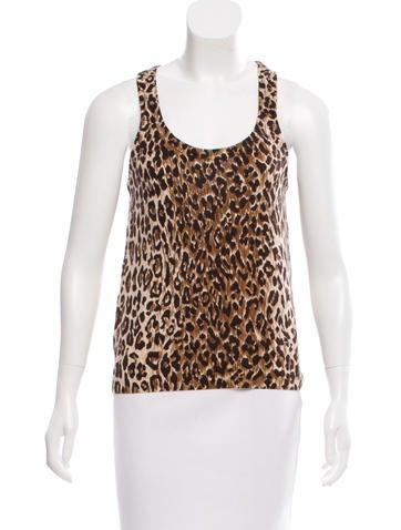 Dolce & Gabbana Leopard Print Cashmere Top None