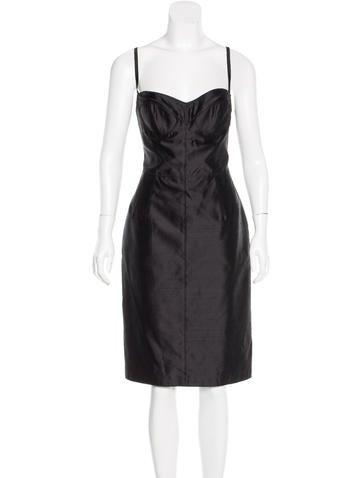 Dolce & Gabbana Silk Midi Dress w/ Tags None