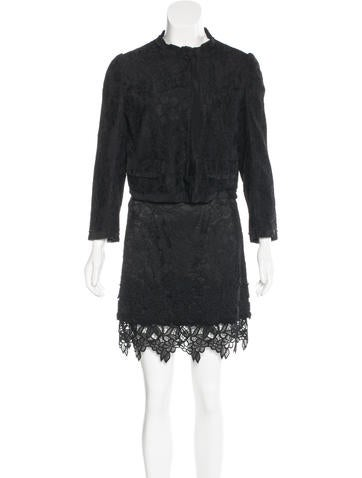 Dolce & Gabbana Lace Skirt Suit