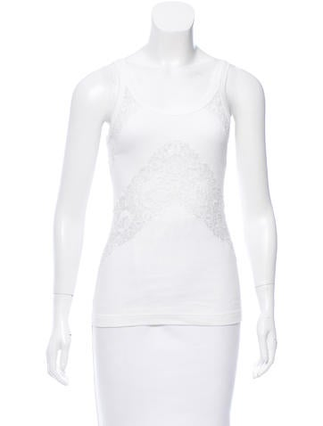 Dolce & Gabbana Lace-Accented Sleeveless Top None