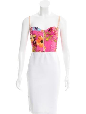 Dolce & Gabbana Floral Bustier Top None