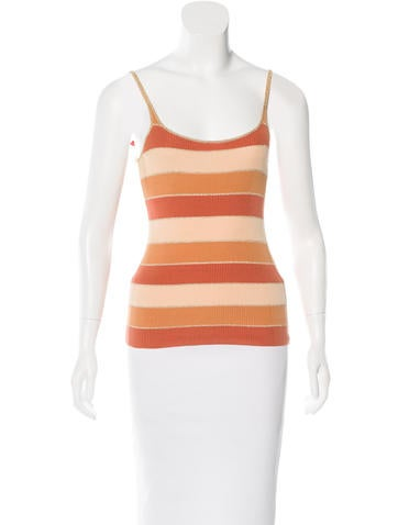 Dolce & Gabbana Sleeveless Striped Top