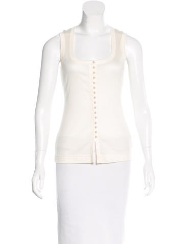 Dolce & Gabbana Sleeveless Button-Up Top w/ Tags None