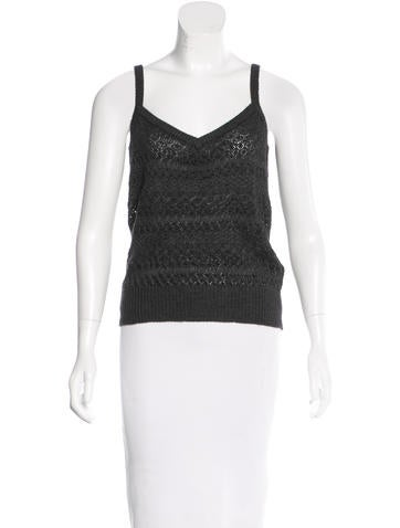 Dolce & Gabbana Cashmere Sleeveless Top None