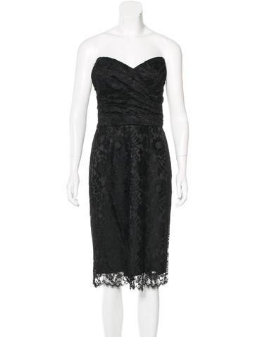 Dolce & Gabbana Strapless Midi Dress!