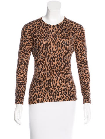 Dolce & Gabbana Virgin Wool Leopard Print Top None