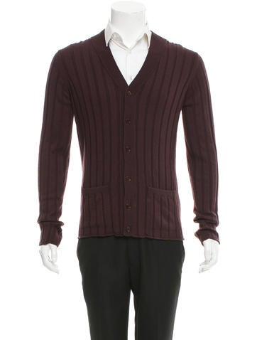 Dolce & Gabbana Cashmere Rib Knit Cardigan None