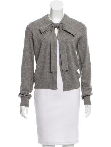Dolce & Gabbana Tie-Accented Cashmere Cardigan None