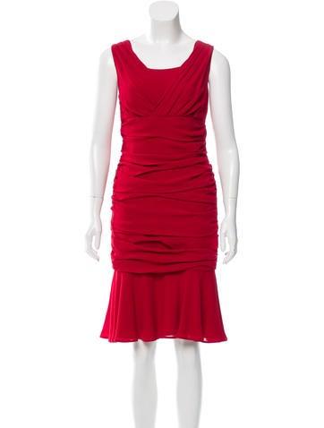 Dolce & Gabbana Ruched Silk Dress w/ Tags None