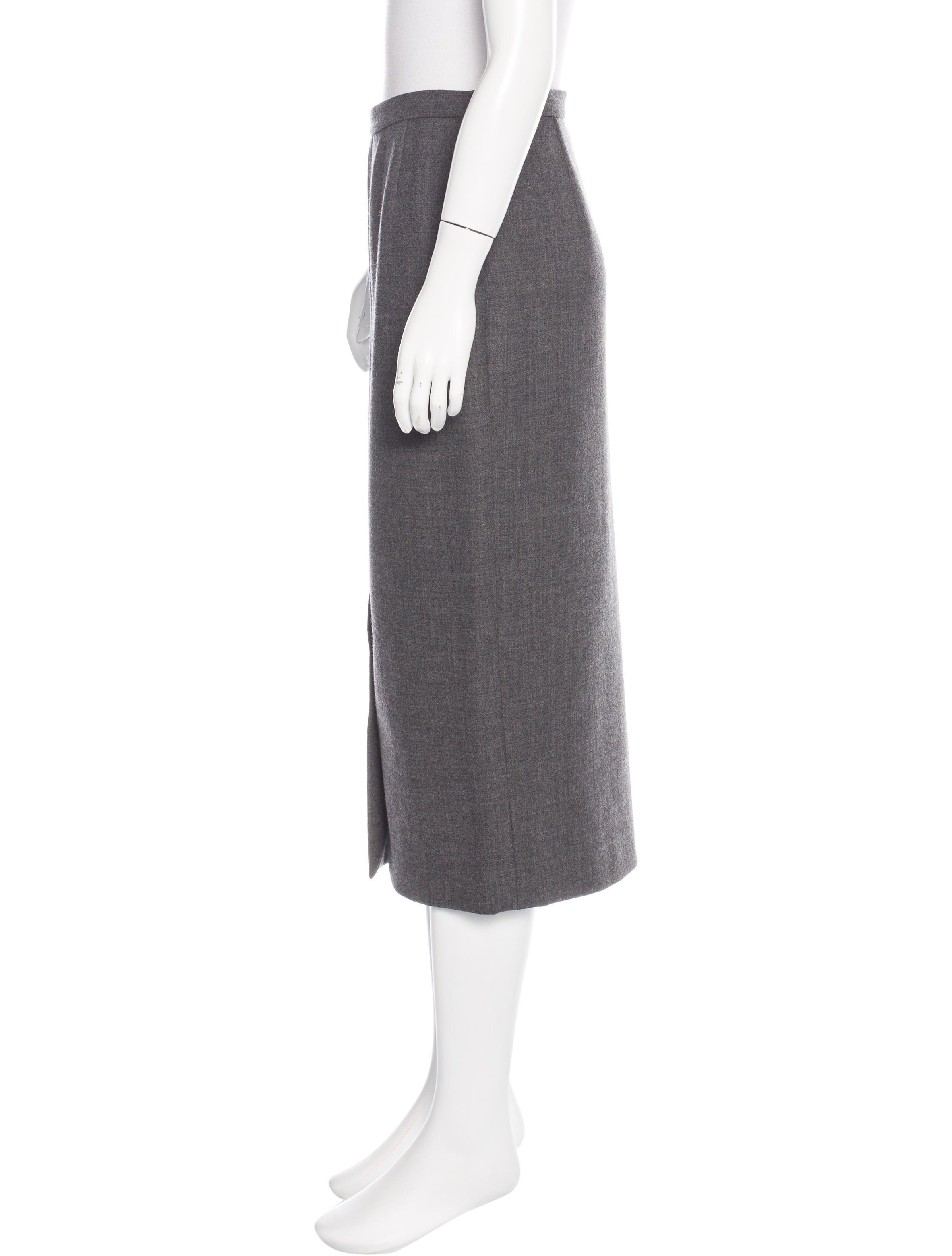 dolce gabbana wool midi skirt clothing