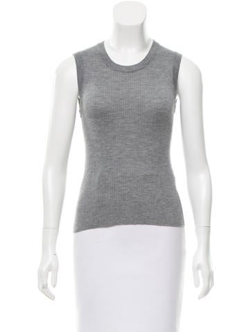 Dolce & Gabbana Sleeveless Cashmere Top None