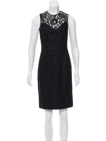 Dolce & Gabbana Lace & Polka Dot Dress