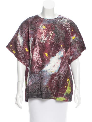 Dolce & Gabbana Silk Abstract Print Top w/ Tags None