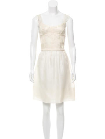 Dolce & Gabbana Silk Textured Dress w/ Tags None