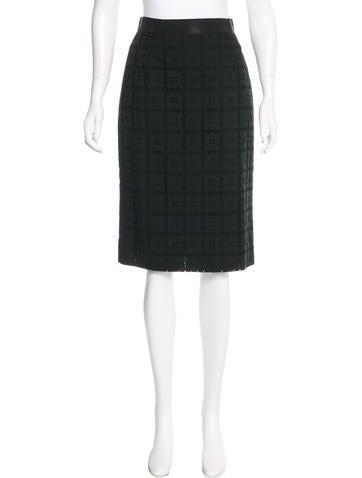 Dolce & Gabbana Embroidered Pencil Skirt