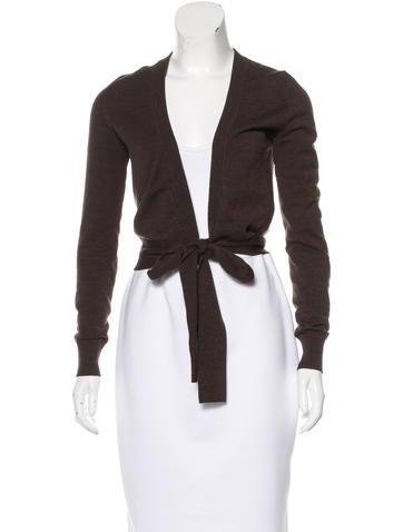 Dolce & Gabbana Virgin Wool Tie-Front Cardigan None