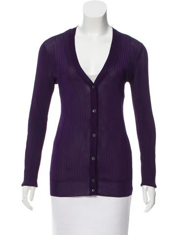 Dolce & Gabbana Rib Knit Button-Up Cardigan None