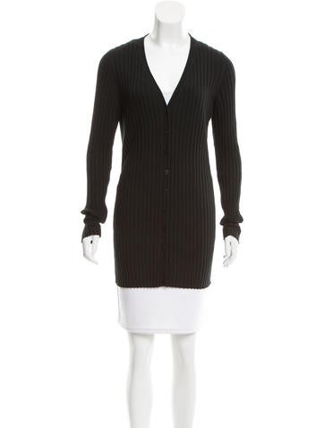 Dolce & Gabbana Rib Knit V-Neck Cardigan None