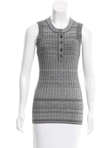 Dolce & Gabbana Rib Knit Sleeveless Top None