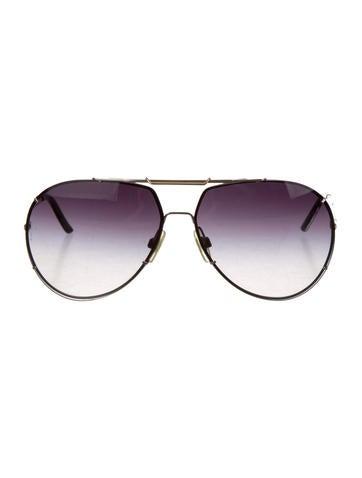 Logo-Embellished Aviator Sunglasses