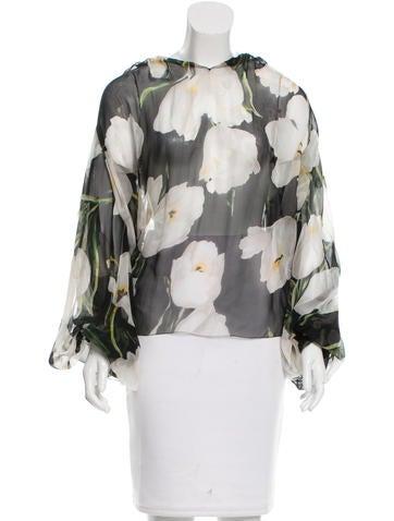 Dolce & Gabbana Tulip Print Chiffon Top None