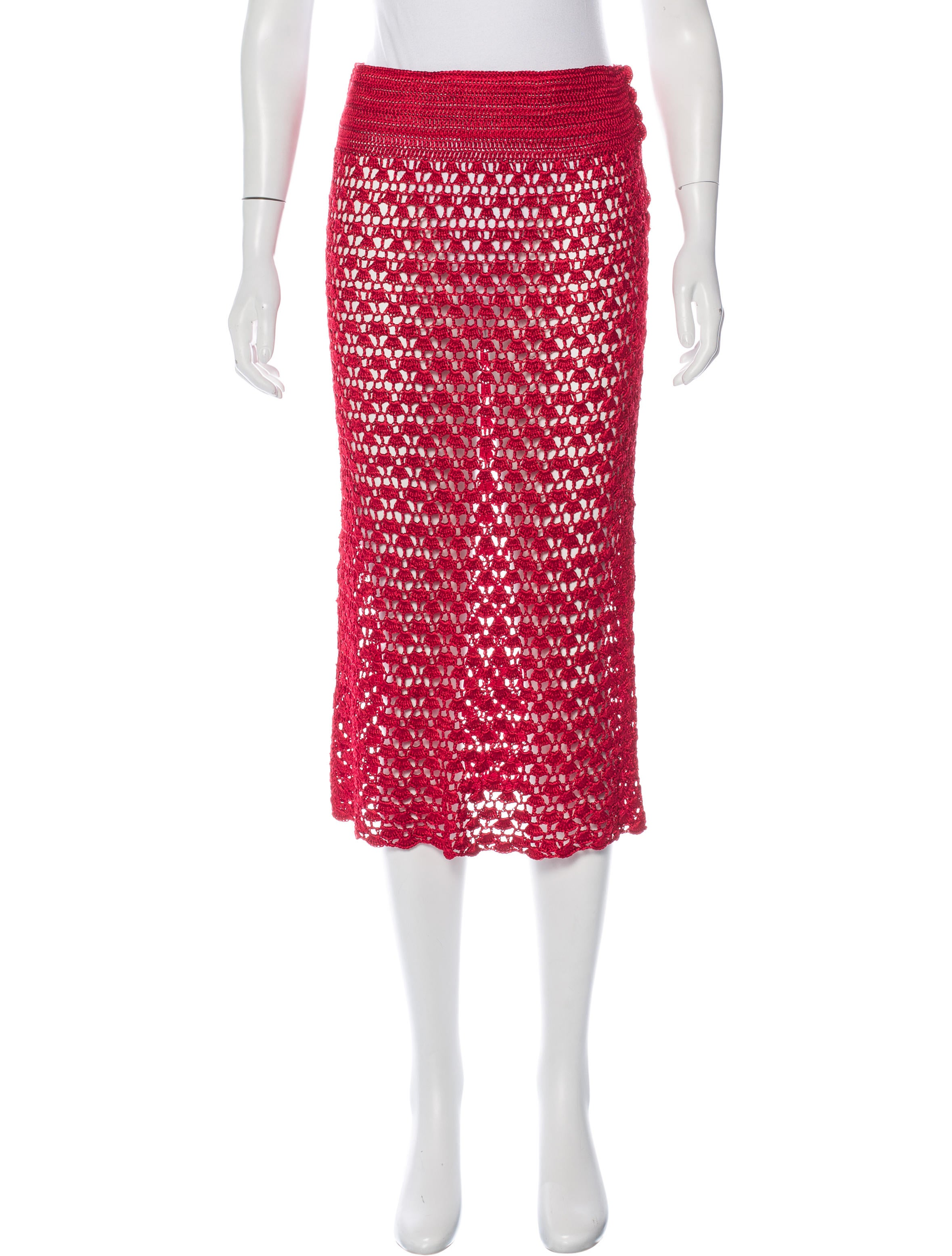 dolce gabbana crochet midi skirt clothing dag69986