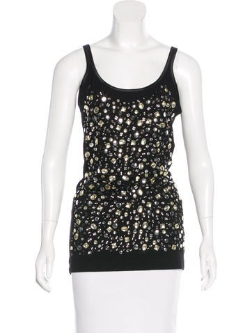 Dolce & Gabbana Crystal-Embellished Sleeveless Top w/ Tags None