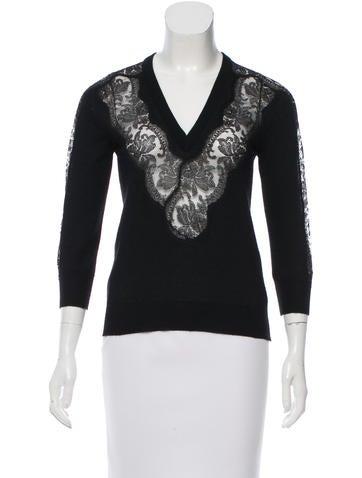 Dolce & Gabbana Lace V-Neck Top None
