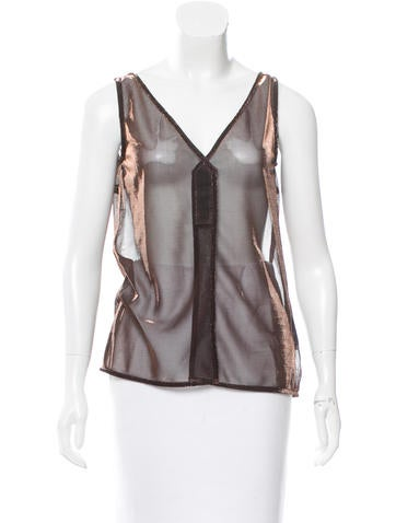 Dolce & Gabbana Sheer Metallic Top w/ Tags None