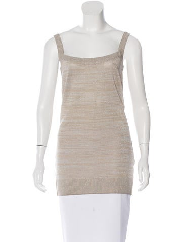 Dolce & Gabbana Metallic Sleeveless Top None