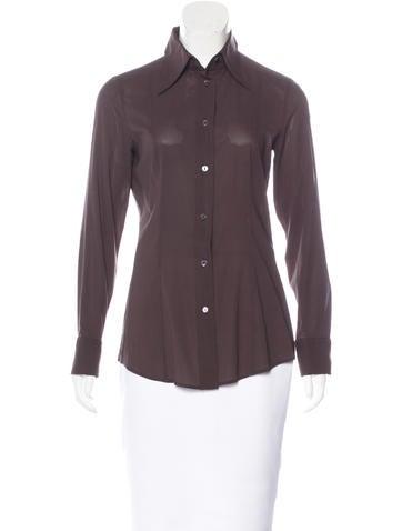Dolce & Gabbana Silk Button-Up Top None
