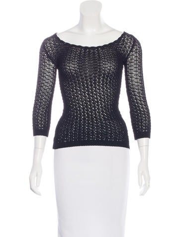 Dolce & Gabbana Open Knit Long Sleeve Top w/ Tags None