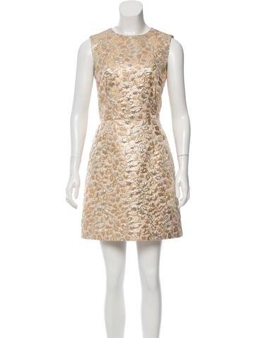 Dolce & Gabbana Metallic Brocade Dress w/ Tags None