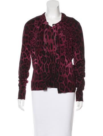 Dolce & Gabbana Leopard Print Cardigan Set None