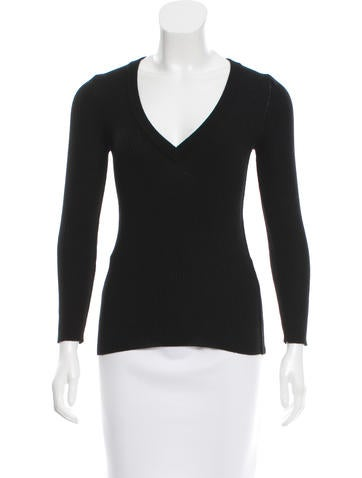 Dolce & Gabbana Rib Knit Wool Top None