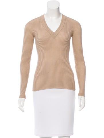 Dolce & Gabbana Rib Knit Wool Top None