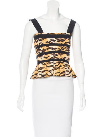 Dolce & Gabbana Tiger Printed Bustier Top w/ Tags None