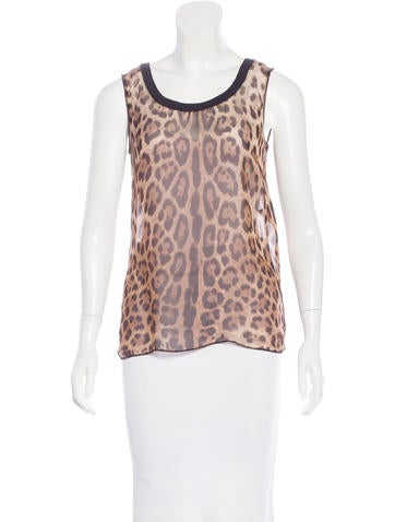 Dolce & Gabbana Silk Sleeveless Top None
