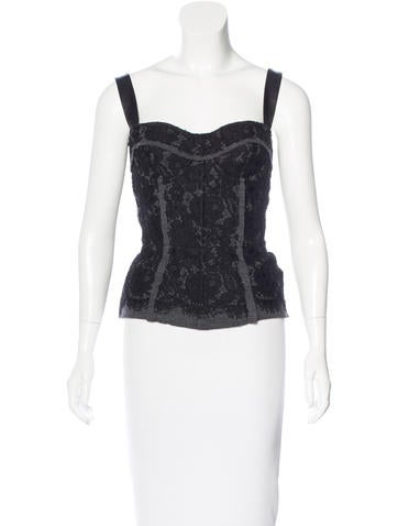 Dolce & Gabbana Lace Bustier Top w/ Tags None
